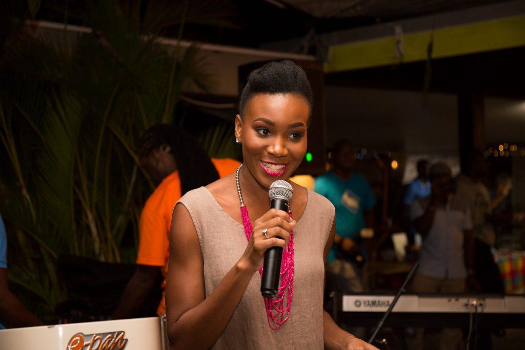 Chrislyn Lashington hosting the opening of the Grenada Chocolate Festival