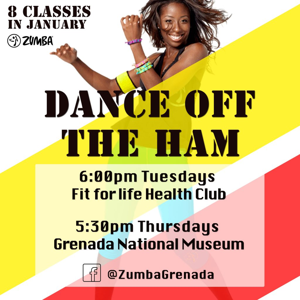 Dance Off the Ham 2019 in Grenada with licensed Zumba Instrutor